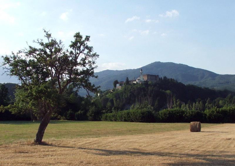 Borgo di Compiano visto dalla campagna