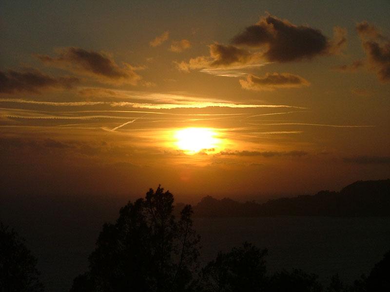 Vista sulle Cinque Terre, dal crinale